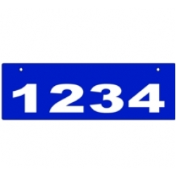 D - 6 x 18 BLUE Horizontal Reflective Address Sign TOP MOUNT